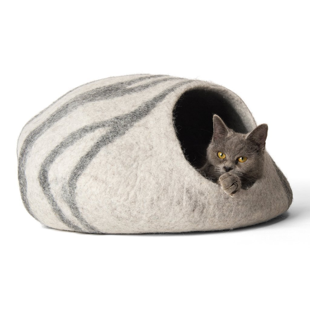 ebf06da62c5d TwinCritters Handmade Wool Cat Cave Bed Review - Mr. Catmandu
